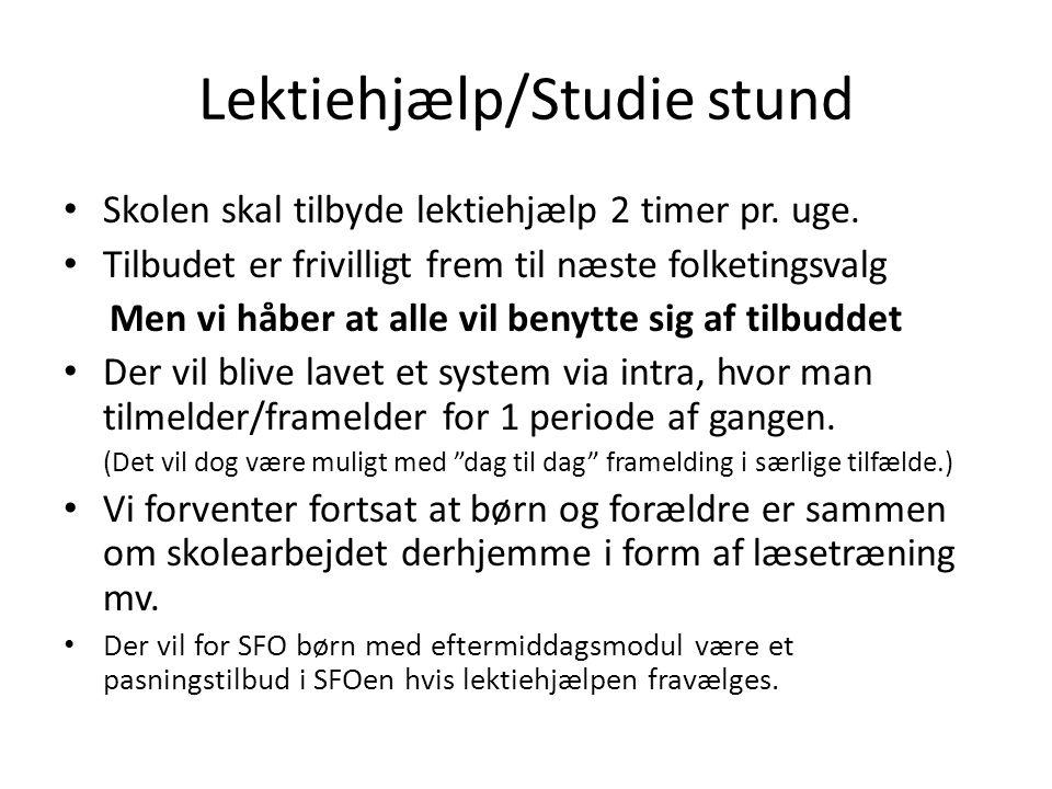 Lektiehjælp/Studie stund