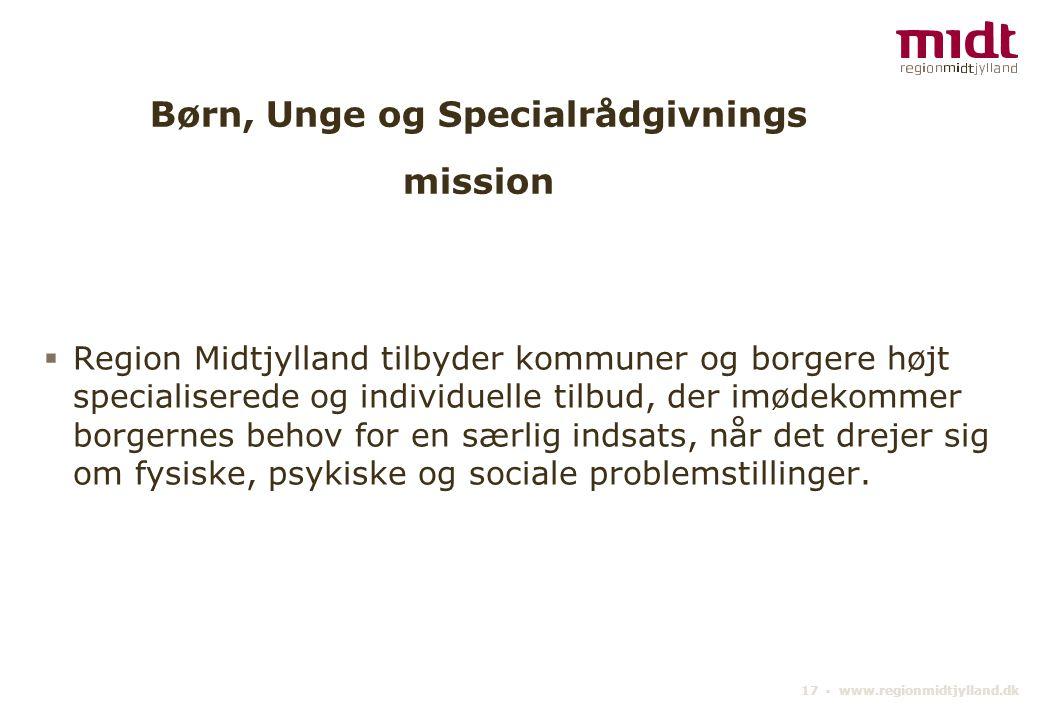 Børn, Unge og Specialrådgivnings mission