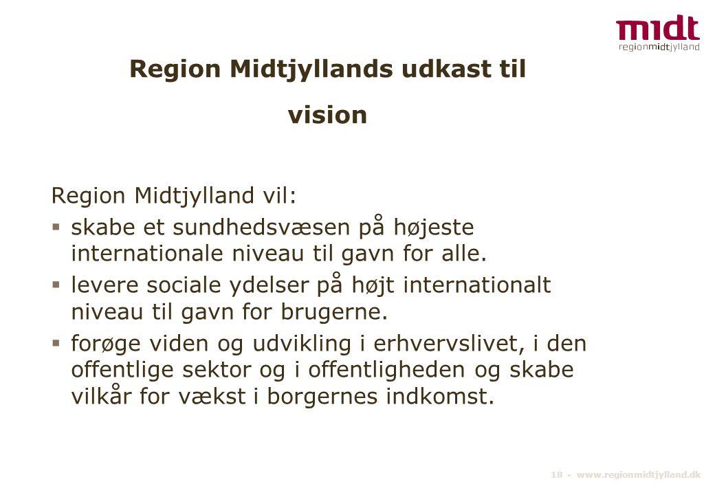 Region Midtjyllands udkast til vision