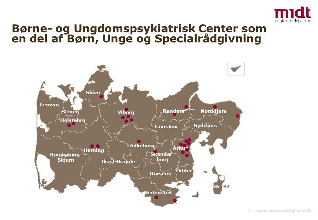 Børne- og Ungdomspsykiatrisk Center som en del af Børn, Unge og Specialrådgivning