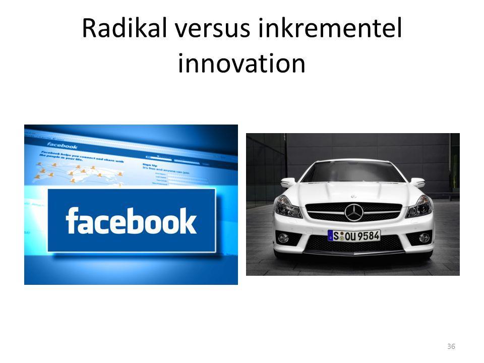 Radikal versus inkrementel innovation