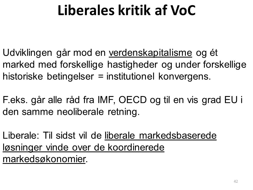 Liberales kritik af VoC