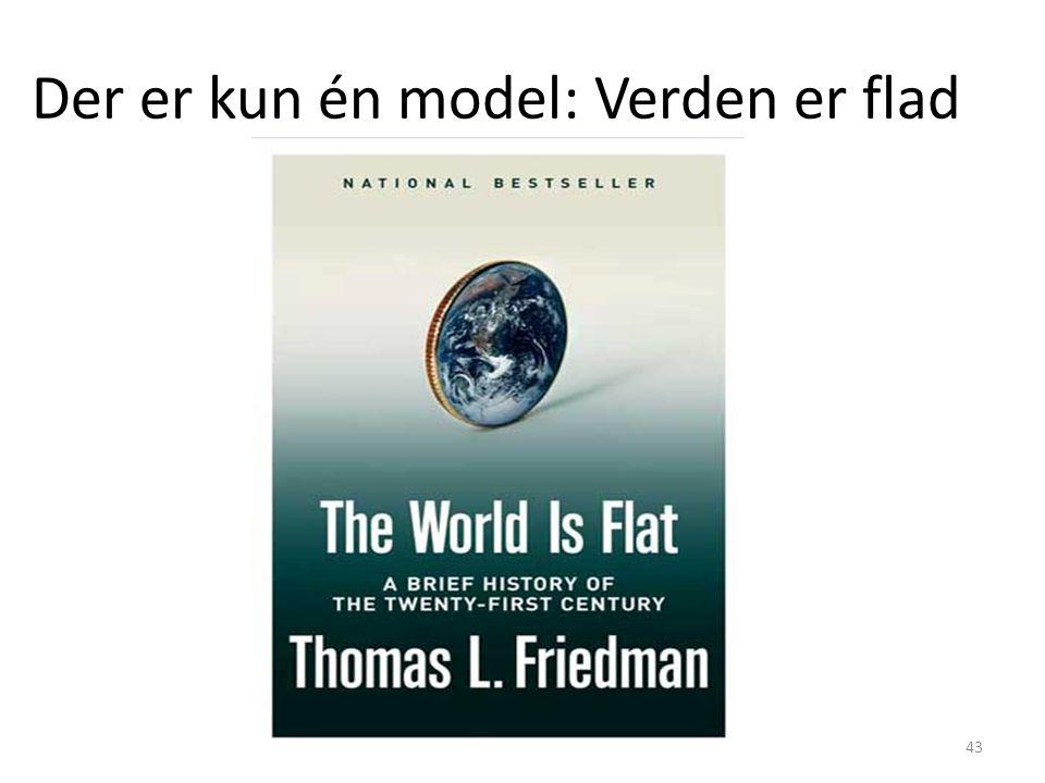 Der er kun én model: Verden er flad
