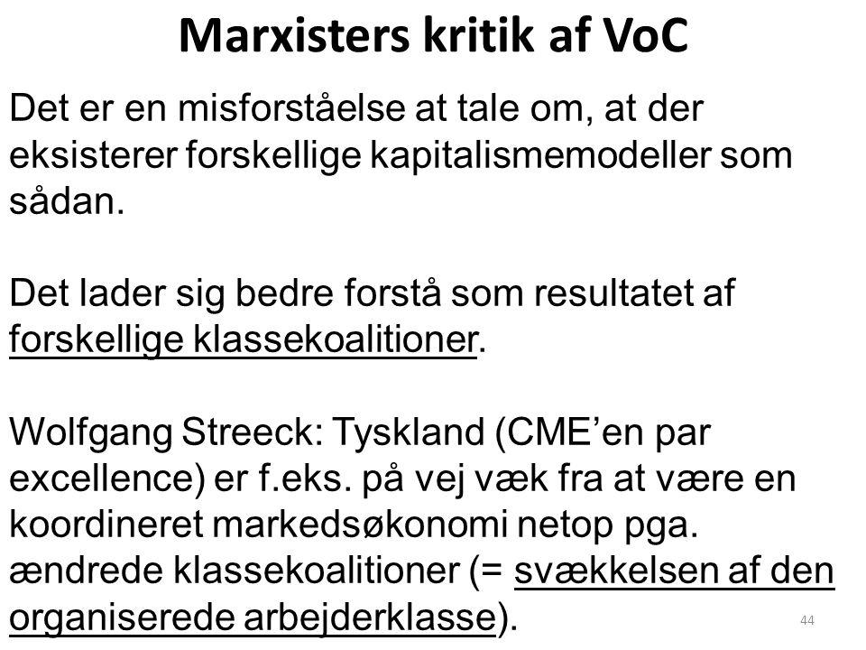 Marxisters kritik af VoC