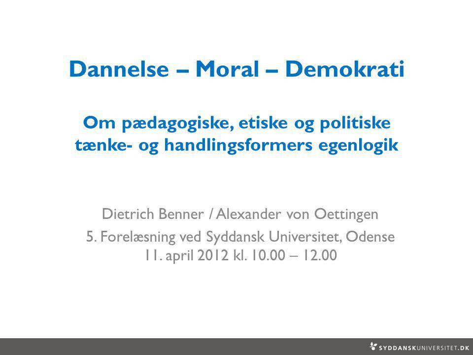 Dietrich Benner / Alexander von Oettingen