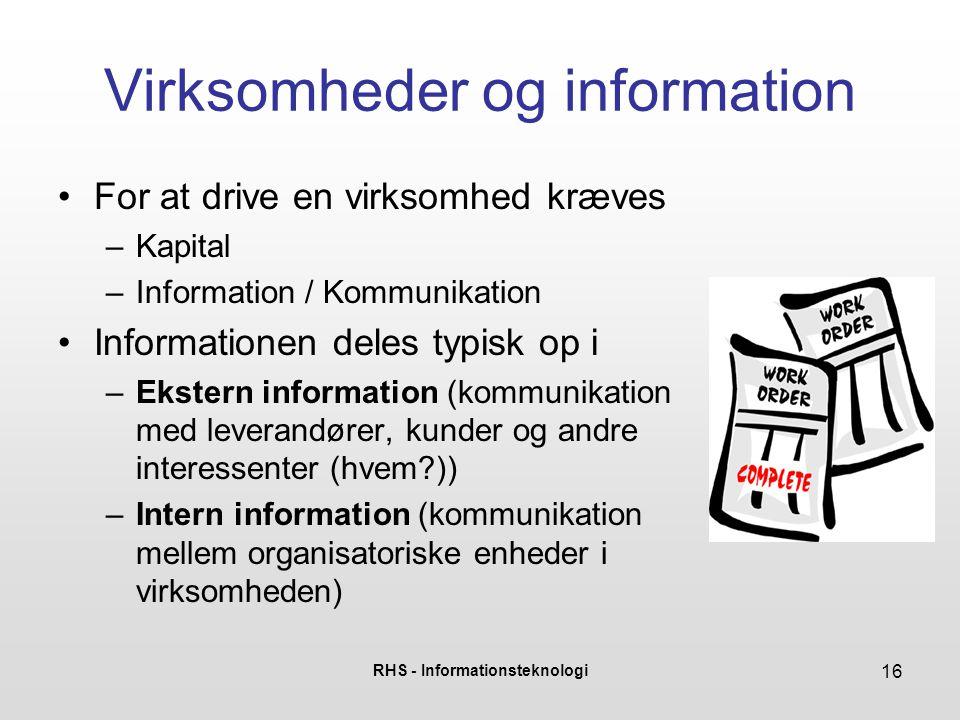 Virksomheder og information