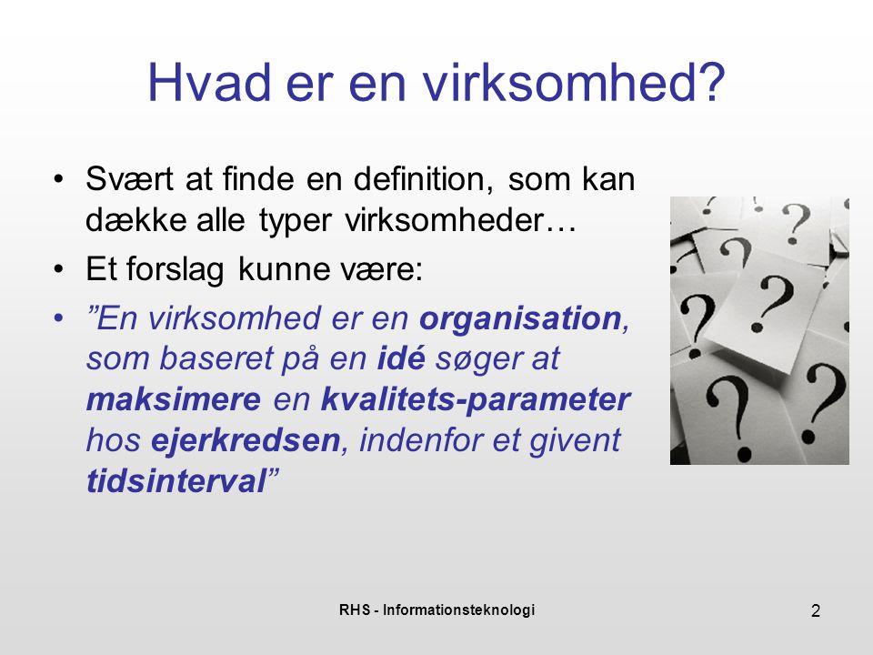 RHS - Informationsteknologi