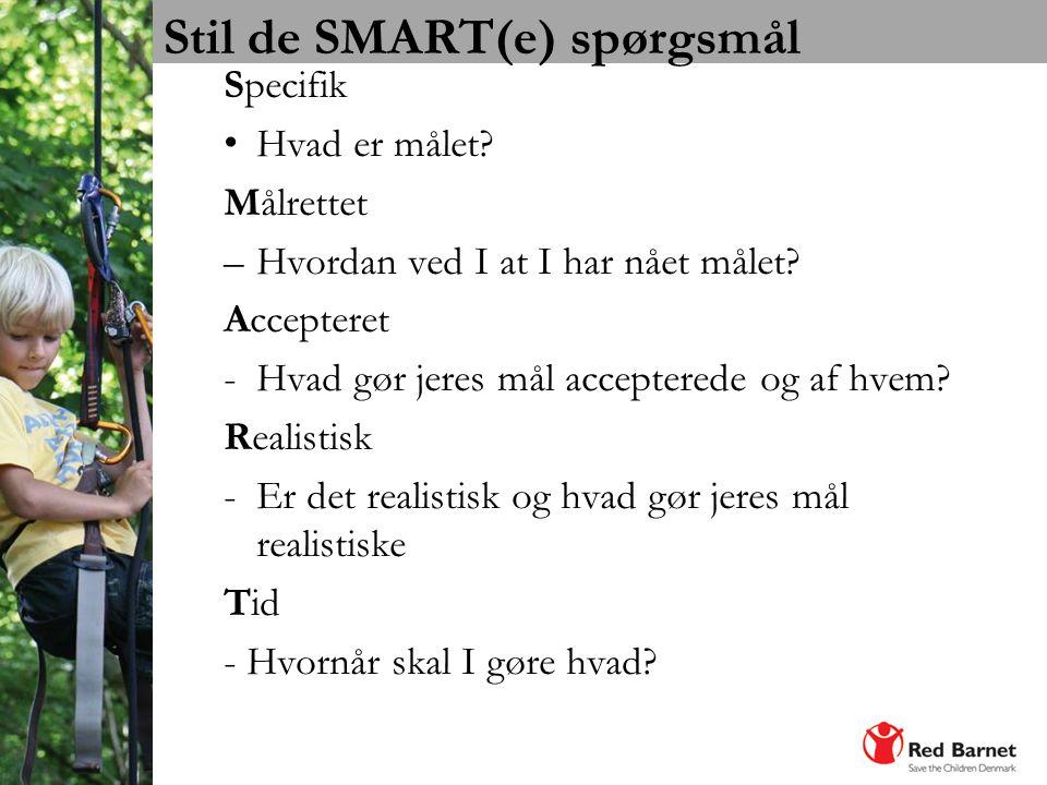Stil de SMART(e) spørgsmål
