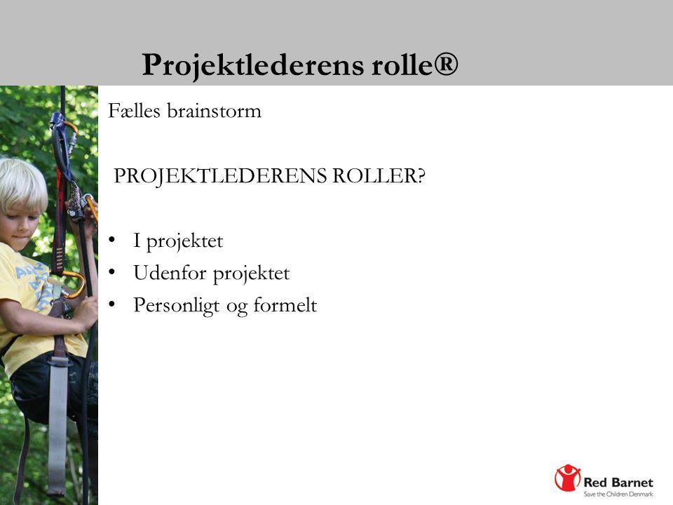 Projektlederens rolle®