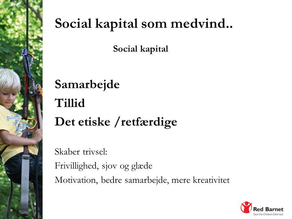 Social kapital som medvind..