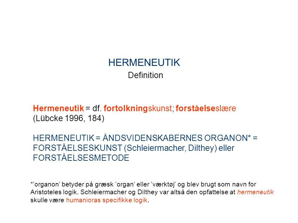 HERMENEUTIK Definition