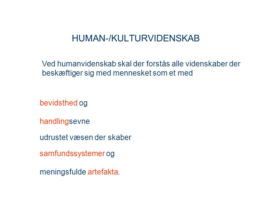 HUMAN-/KULTURVIDENSKAB