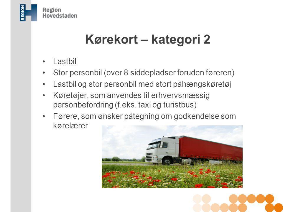 Kørekort – kategori 2 Lastbil