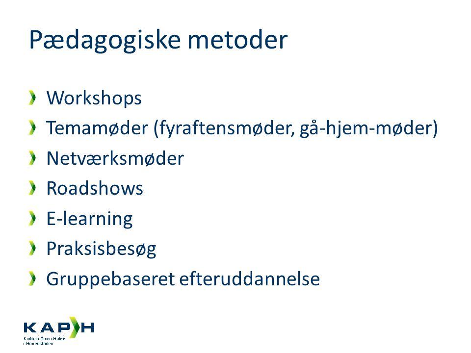 Pædagogiske metoder Workshops