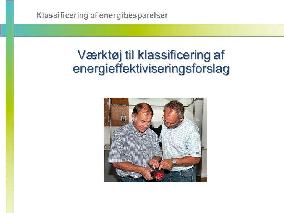 Værktøj til klassificering af energieffektiviseringsforslag