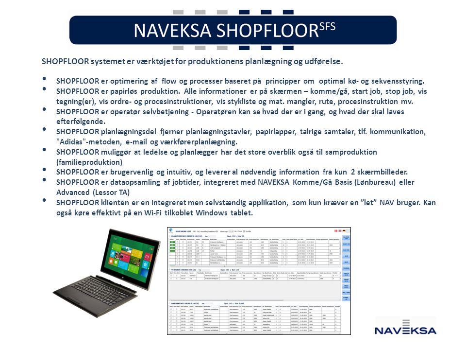 SHOPFLOOR systemet er værktøjet for produktionens planlægning og udførelse.