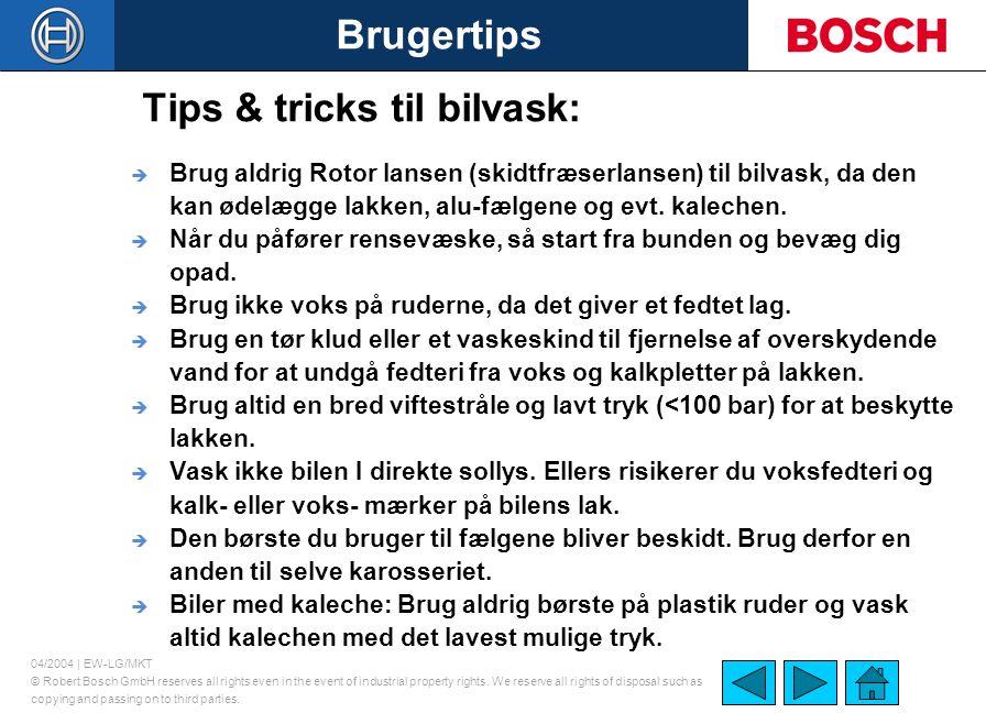 Tips & tricks til bilvask: