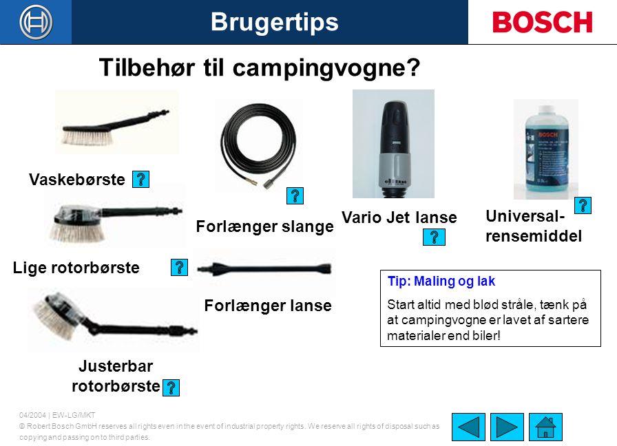 Tilbehør til campingvogne