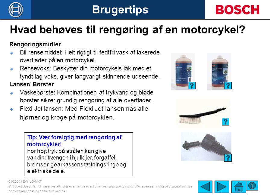 Hvad behøves til rengøring af en motorcykel
