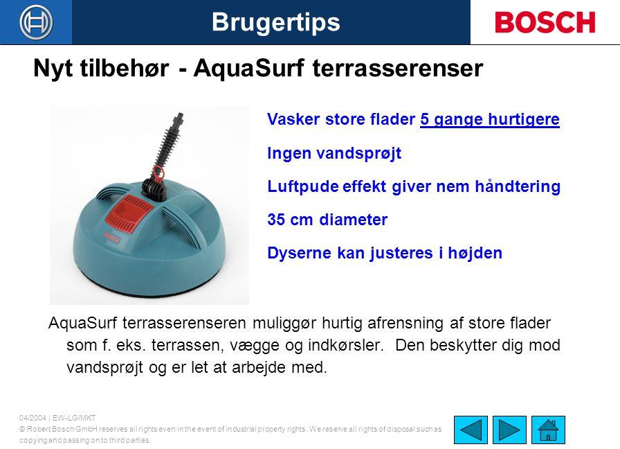 Nyt tilbehør - AquaSurf terrasserenser