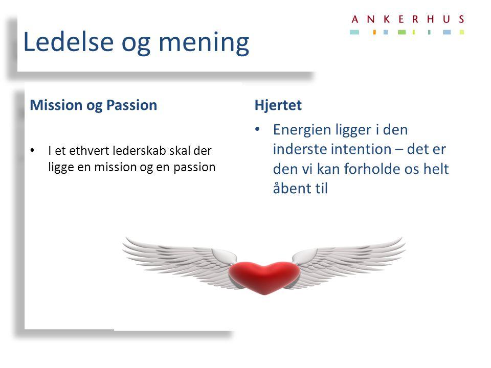Ledelse og mening Mission og Passion Hjertet