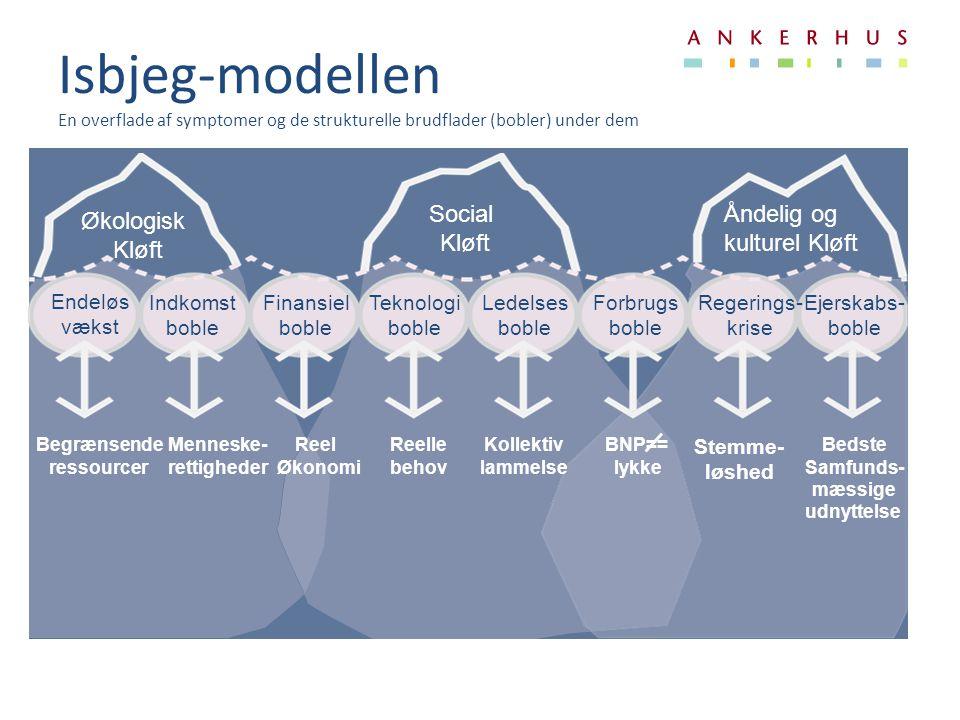 Isbjeg-modellen En overflade af symptomer og de strukturelle brudflader (bobler) under dem