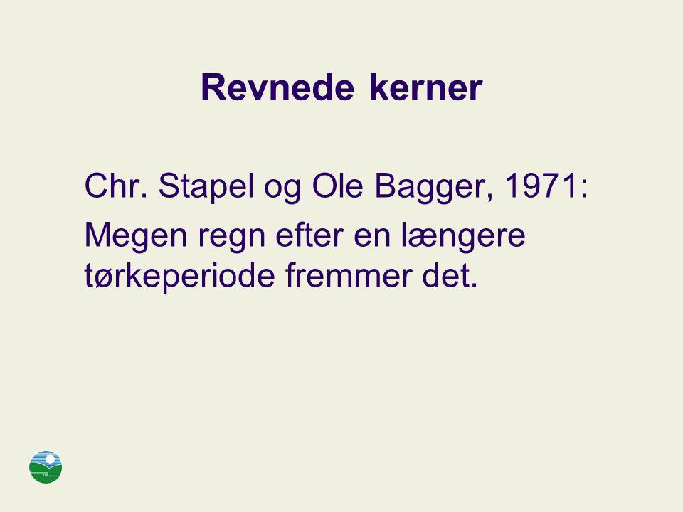 Revnede kerner Chr. Stapel og Ole Bagger, 1971: