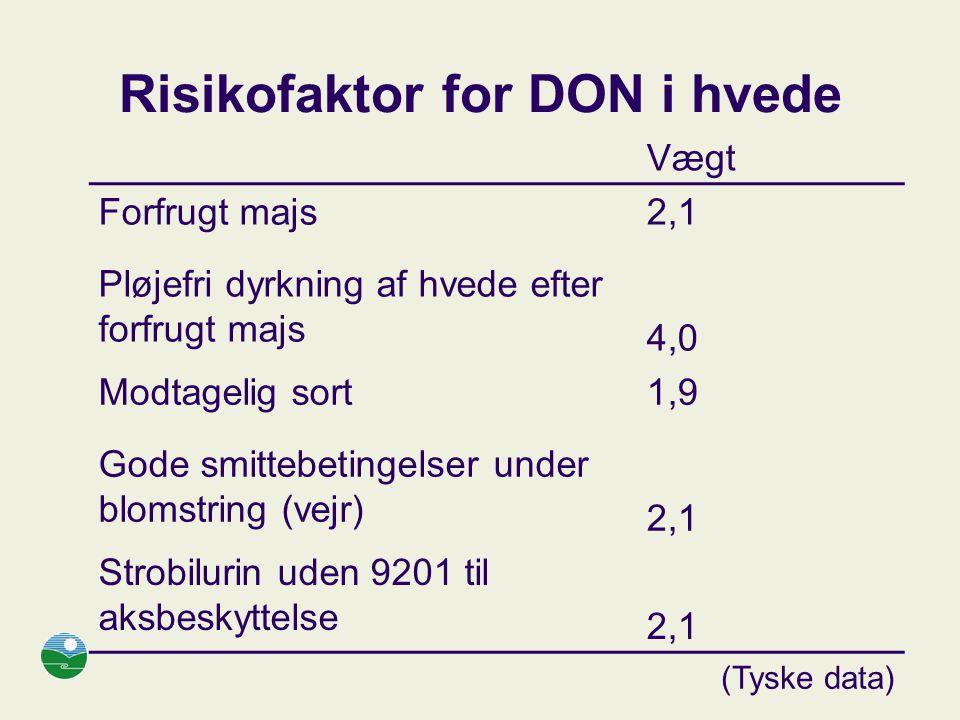 Risikofaktor for DON i hvede