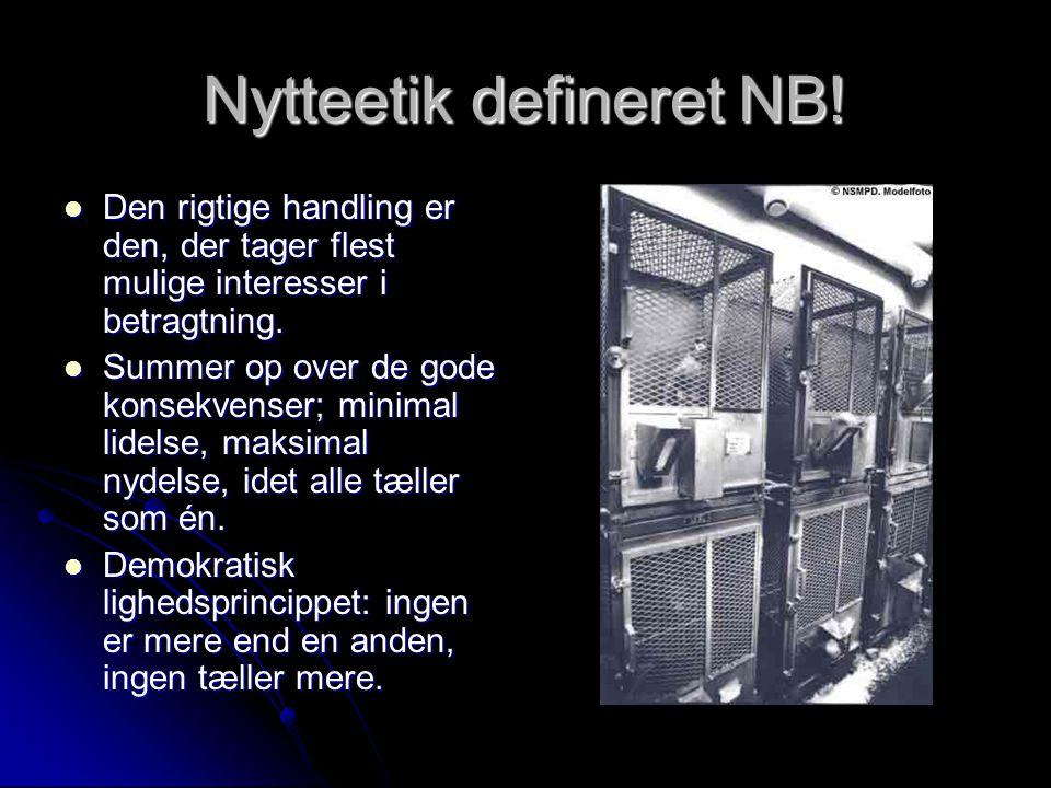 Nytteetik defineret NB!