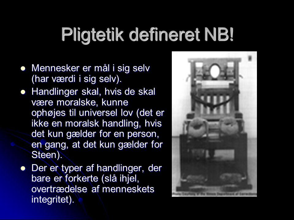 Pligtetik defineret NB!