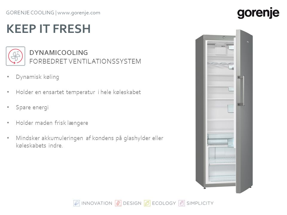 Keep it fresh DynamiCooling Forbedret ventilationssystem