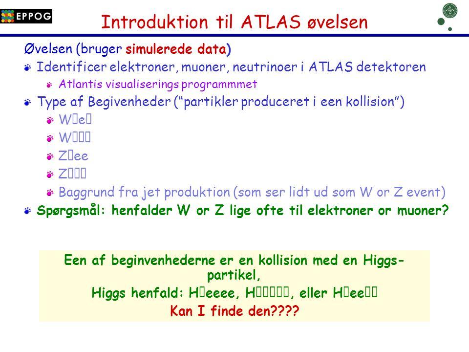 Introduktion til ATLAS øvelsen