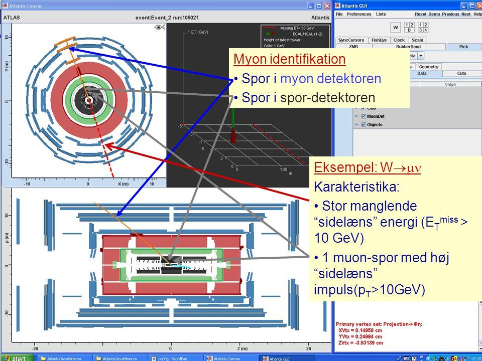 Spor i spor-detektoren Muon identification