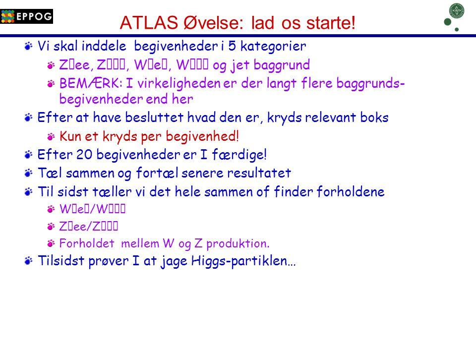 ATLAS Øvelse: lad os starte!