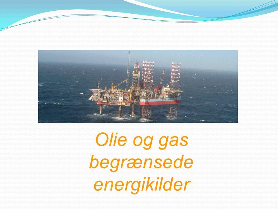 Olie og gas begrænsede energikilder