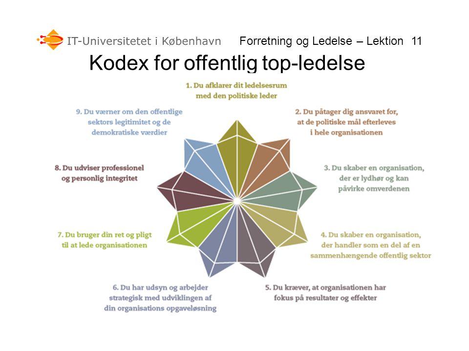 Kodex for offentlig top-ledelse