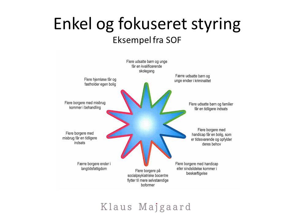 Enkel og fokuseret styring Eksempel fra SOF