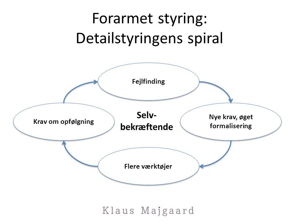 Forarmet styring: Detailstyringens spiral