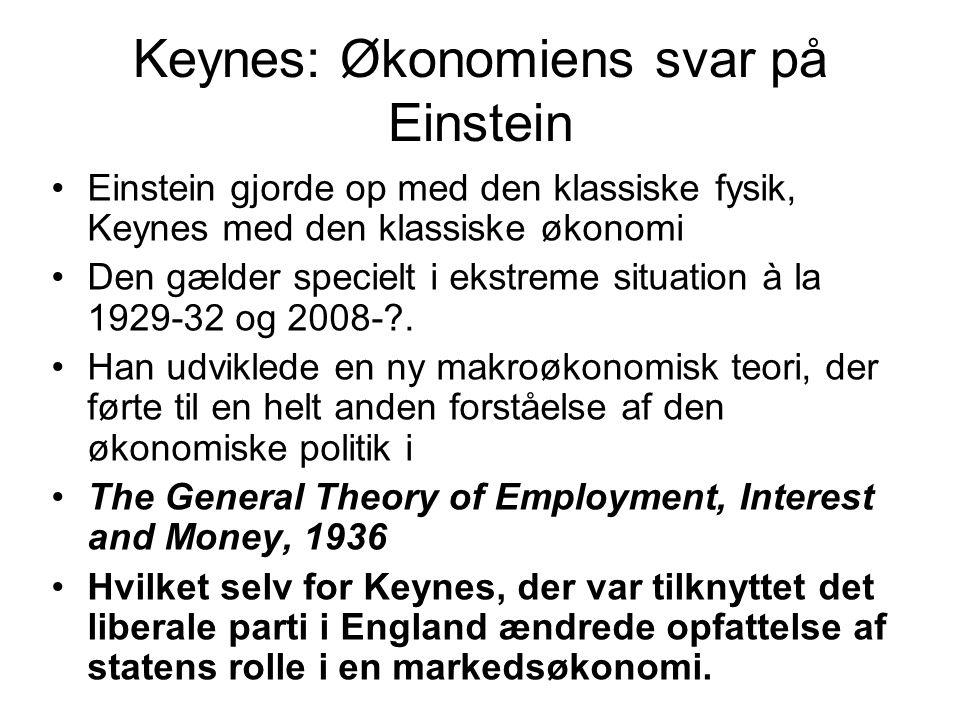 Keynes: Økonomiens svar på Einstein