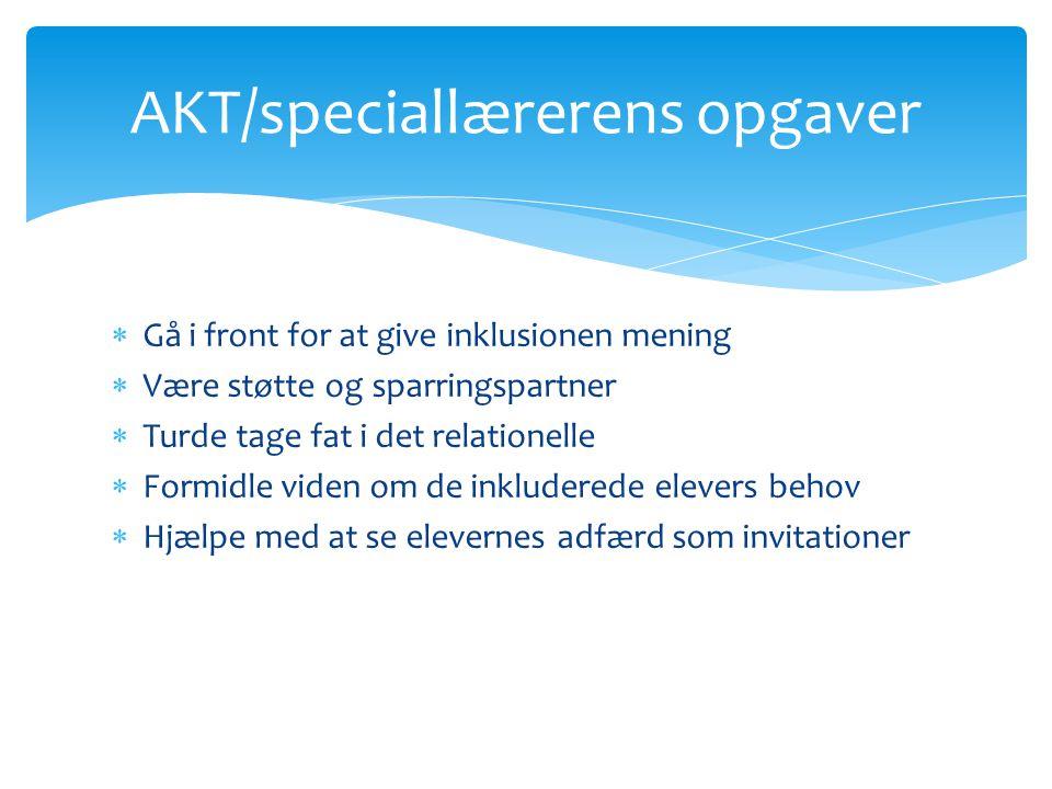 AKT/speciallærerens opgaver