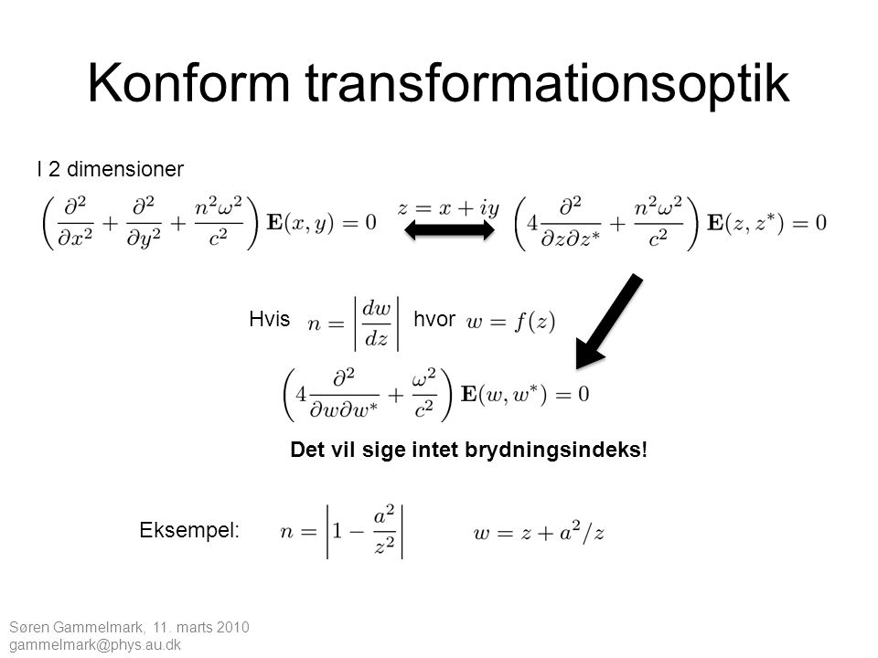 Konform transformationsoptik
