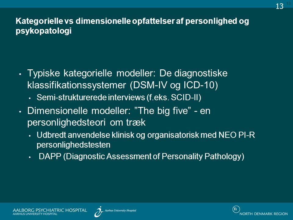 Dimensionelle modeller: The big five - en personlighedsteori om træk
