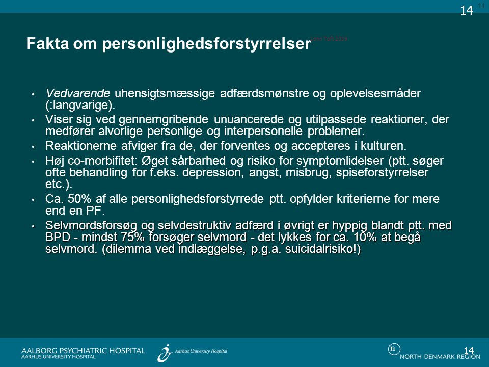 Fakta om personlighedsforstyrrelser