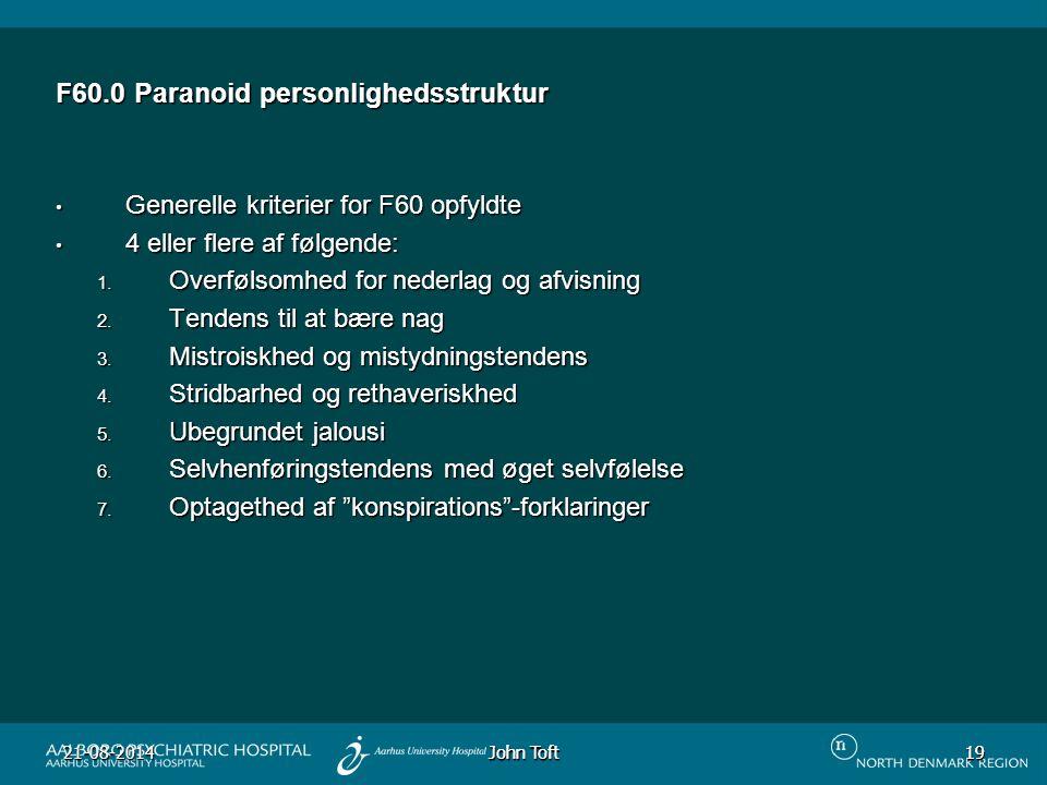 F60.0 Paranoid personlighedsstruktur