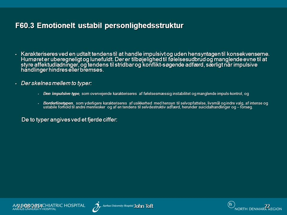 F60.3 Emotionelt ustabil personlighedsstruktur