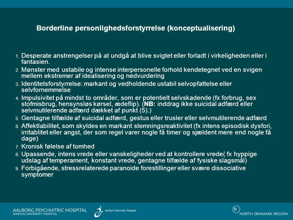 Borderline personlighedsforstyrrelse (konceptualisering)