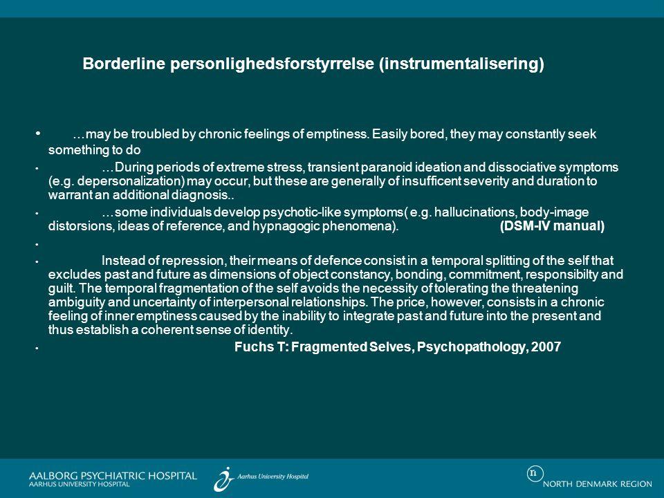 Borderline personlighedsforstyrrelse (instrumentalisering)