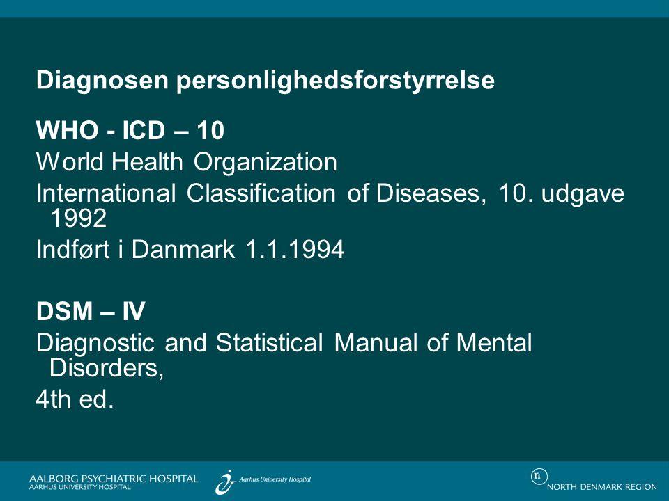 Diagnosen personlighedsforstyrrelse
