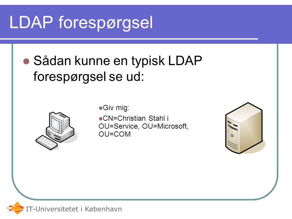 LDAP forespørgsel Sådan kunne en typisk LDAP forespørgsel se ud:
