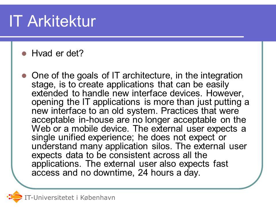 IT Arkitektur Hvad er det